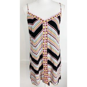 Umgee • Chevron Patterned Embroidered Mini Dress